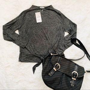 🌸 Zara Tie Front Long Sleeved Shirt L